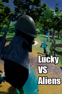 Lucky VS Aliens
